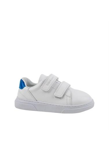 Kids A More Canva Çift Cırtlı Deri Erkek Çocuk Ayakkabı  Beyaz